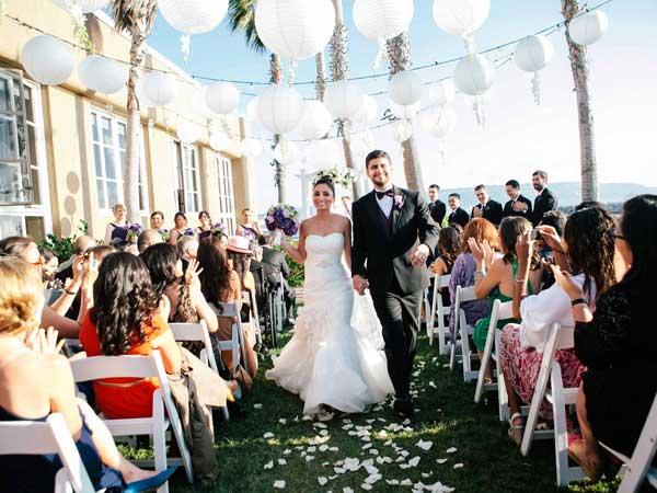 Wedding couple at Redondo Beach wedding
